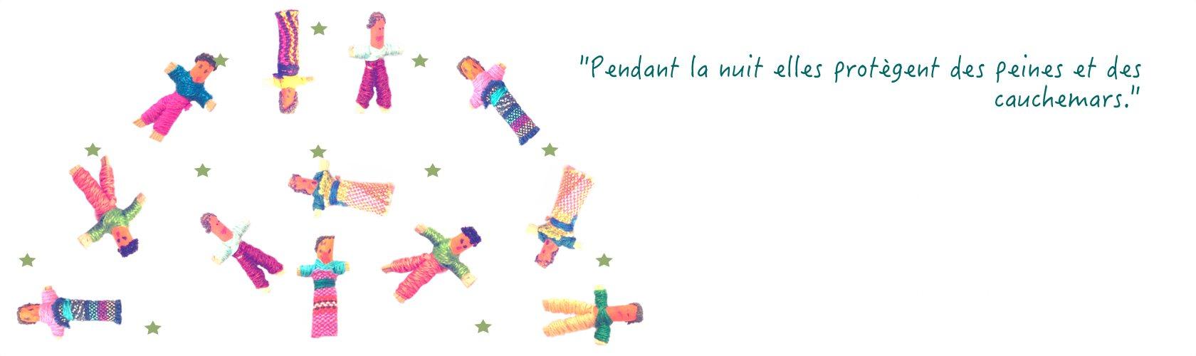Set vaisselle enfant poupées tracas du Guatemala