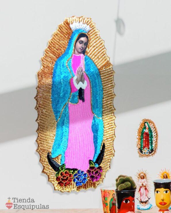Grande icône murale Vierge de Guadalupe