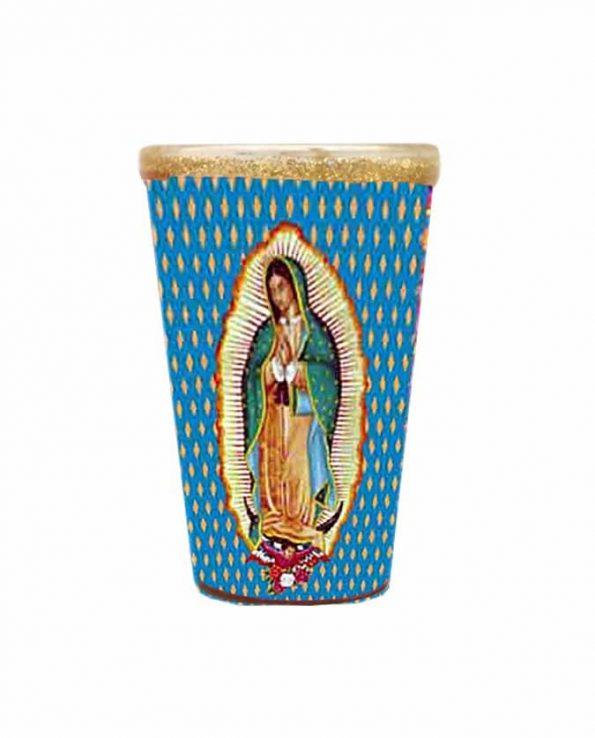 Bougie mexicaine décorée Guadalupe 18