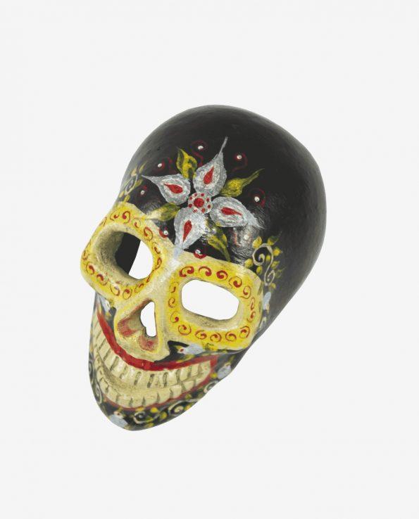 Crâne vanité du Guatemala, Noir