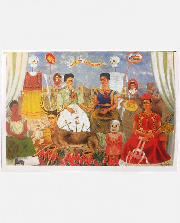 Carte de voeux Frida Kahlo, les deux Fridas