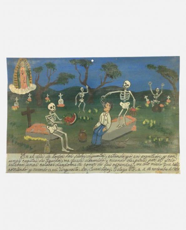 Ex-voto retablo Plaque 18*27 cm