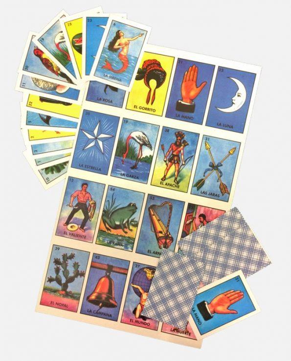 Jeu loteria mexicaine 10 joueurs 38x22,5cm (grand)