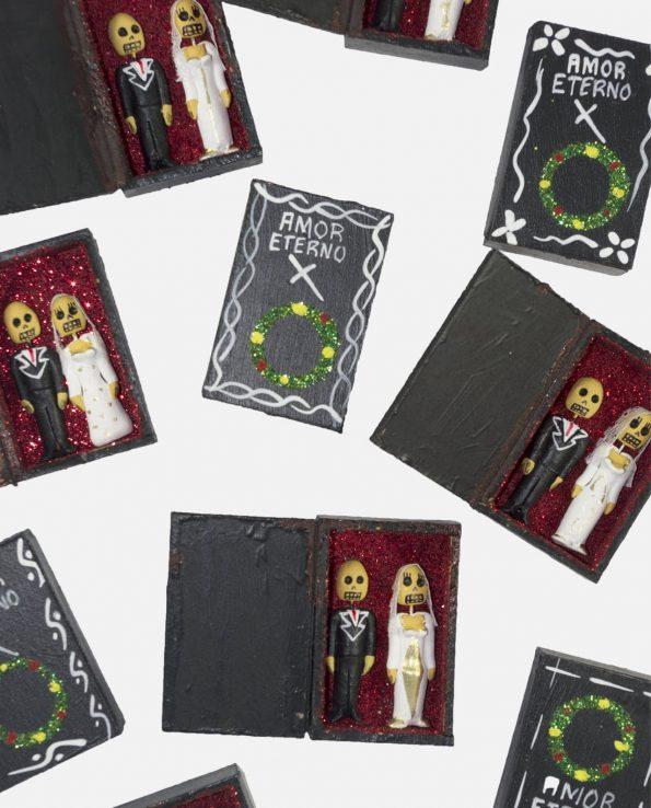 Cercueil Amor Eterno (tête de mort)
