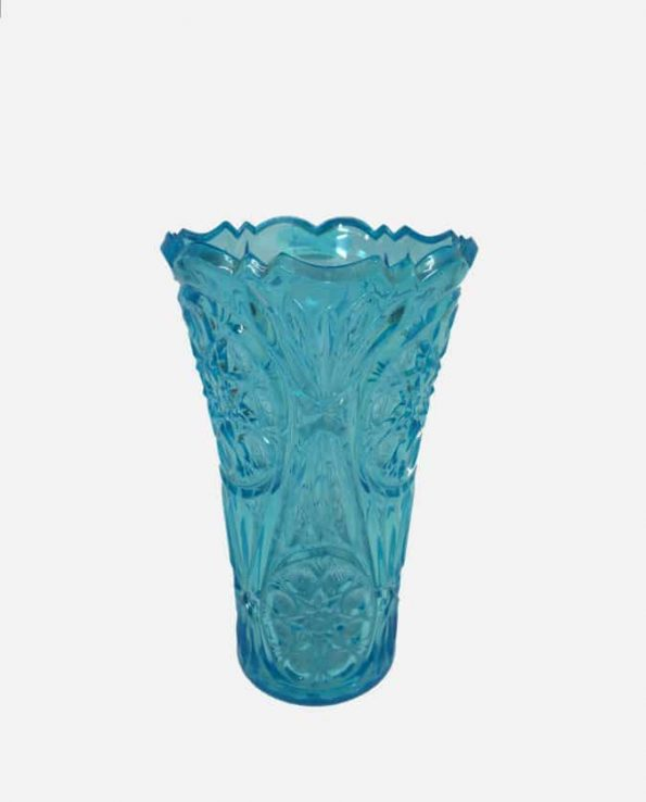 Vase plastique cristal 18x7-11cm bleu