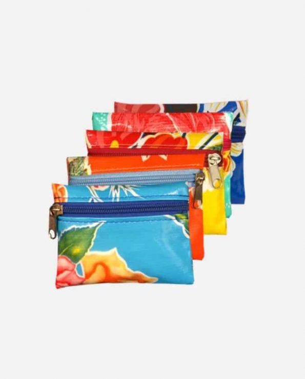 Porte-monnaie toile cirée PM 10,5x8,5cm modèles assortis