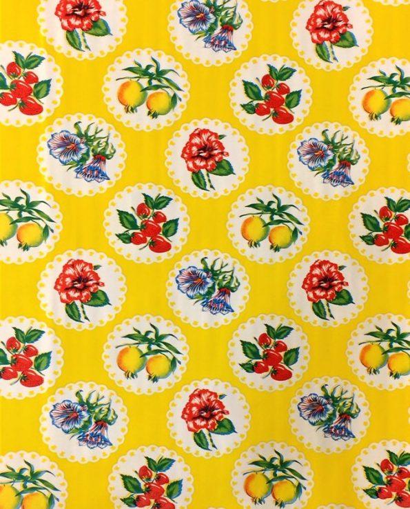 Toile cirée (par rouleau de 11m*120cm), Granadas jaune