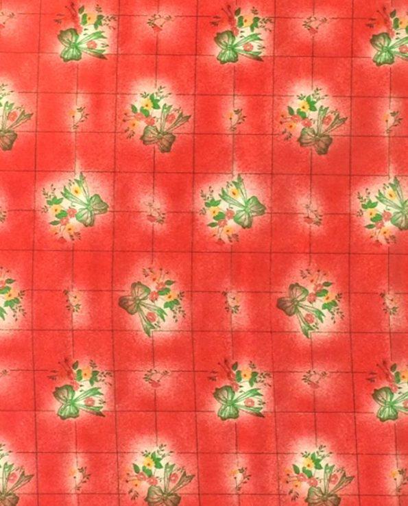 Toile cirée (par rouleau de 11m*120cm), Moños rouge
