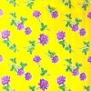Oilcloth Rosas, yellow (by roll 11mx120cm)