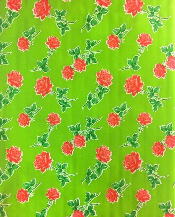 Toile cirée (par rouleau de 11m*120cm), Rosas vert