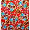 Oilcloth Dulce Flor, red