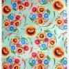 Toile cirée (par rouleau de 11m*120cm), Dulce flor menthe
