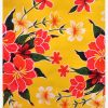 Oilcloth Hibiscus, yellow