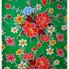 Toile cirée (par rouleau de 11m*120cm), Hibiscus vert
