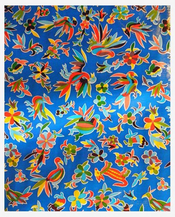 Toile cirée (par rouleau de 11m*120cm), Oaxaquena bleu foncé