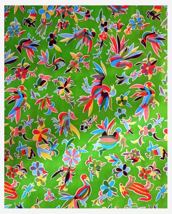 Toile cirée (par rouleau de 11m*120cm), Oaxaquena vert