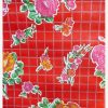 Oilcloth Rosedal, red