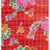 Toile cirée (par rouleau de 11m*120cm), Rosedal rouge