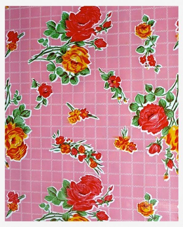 Toile cirée (par rouleau de 11m*120cm),rose