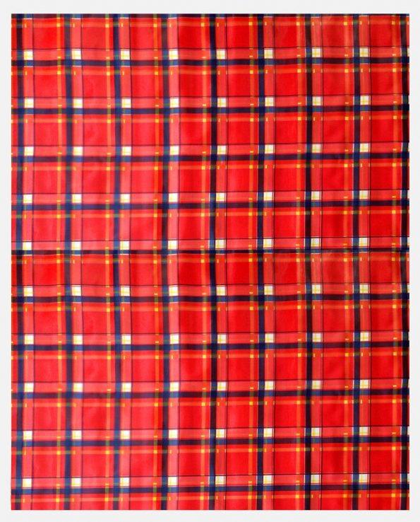 Toile cirée (par rouleau de 11m*120cm), Escoces rouge