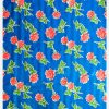 Oilcloth Rosas, blue
