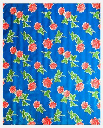Toile cirée (par rouleau de 11m*120cm), Rosas bleu