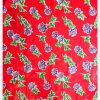 Oilcloth Rosas, red (by roll 11mx120cm)