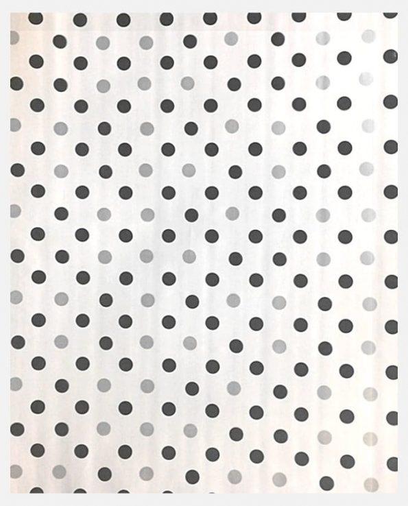 Toile cirée mexicaine confettis noirs et gris