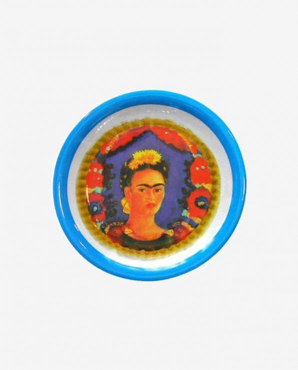 Service Frida Kahlo Assiette, Bleu