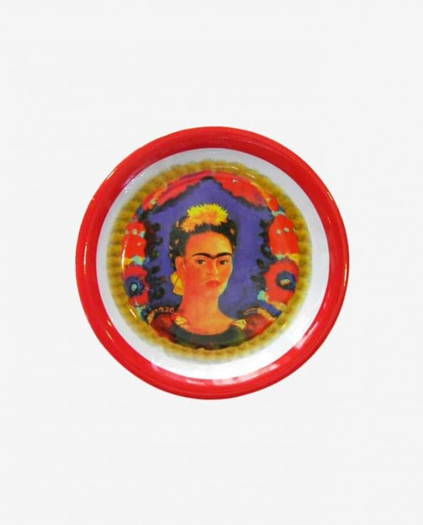 Service Frida Kahlo Assiette, Rouge