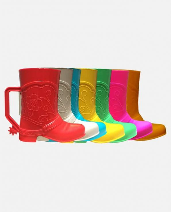 Gobelet plastique Botte Santiag couleurs assorties