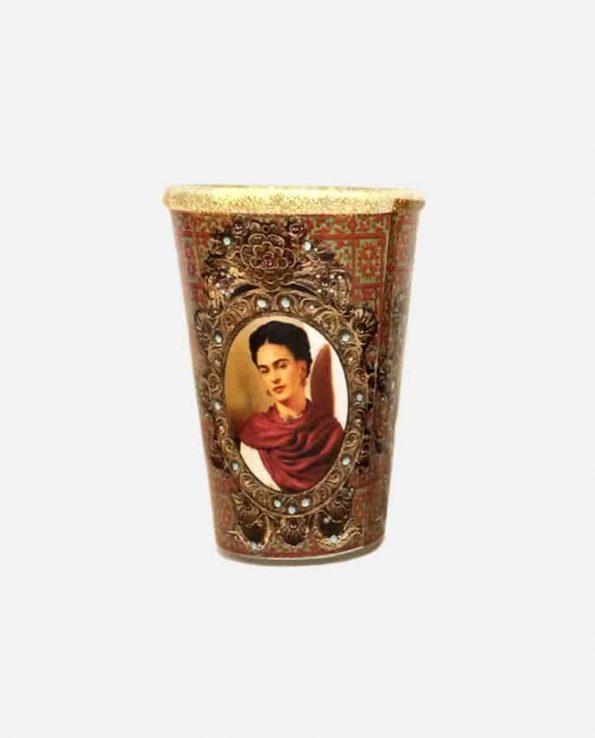 """Bougie mexicaine décorée Frida 14 """"châle"""""""