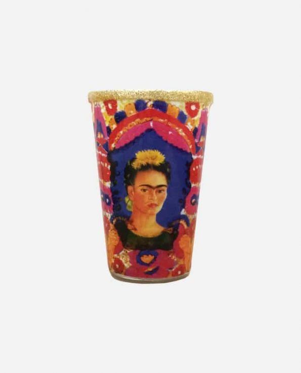 """Bougie mexicaine décorée Frida 21 """"coiffe fleurs"""""""