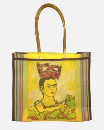 Cabas nylon sérigraphié Frida couleurs assorties