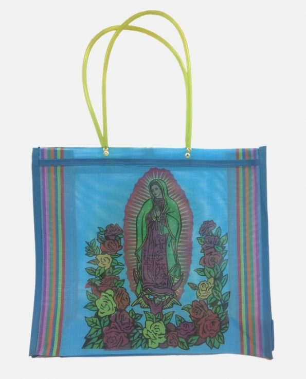 Cabas nylon sérigraphié Guadalupe couleurs assorties