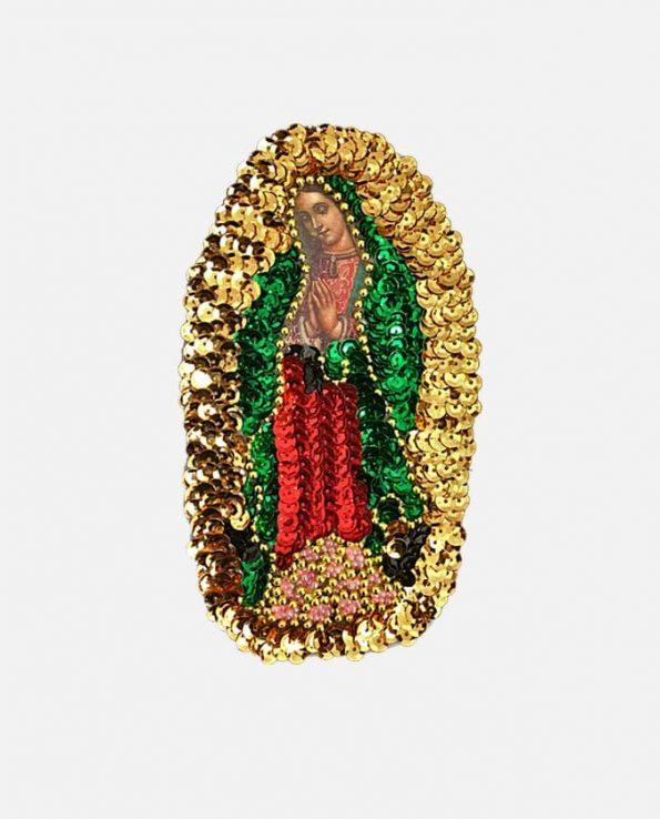 Ecusson à coudre Vierge de Guadalupe 15cm
