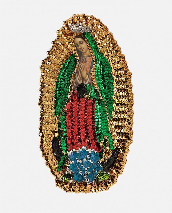 Ecusson à coudre Vierge de Guadalupe 24cm