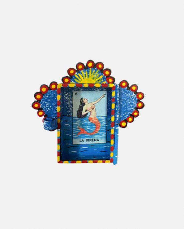 Nicho Micro Sirena Loteria 7,5*7,5 cm