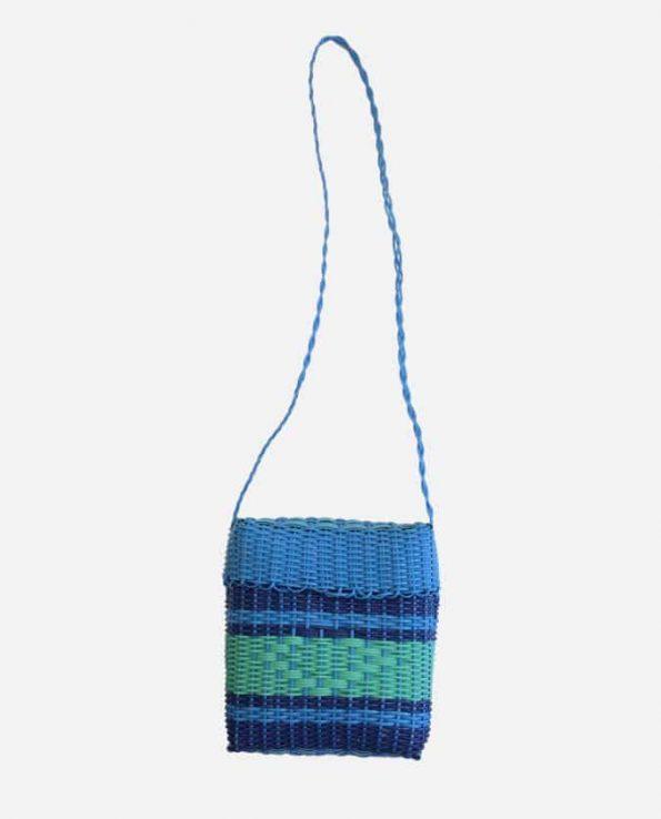 Panier tressé plastique Gamelle, bleu