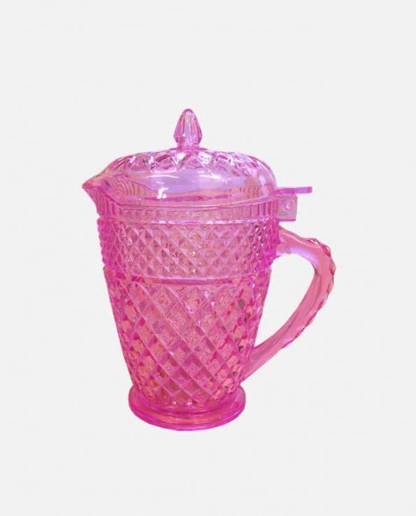 Carafon plastique cristal 16x9-7cm rose