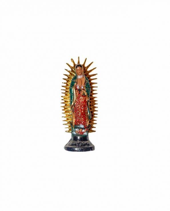 Statue résine Vierge de Guadalupe Mexique 10cm