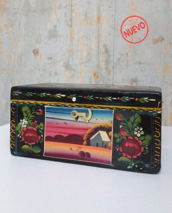 Boîte décorative ex-voto art mexicain Frida Kahlo - vue fermée