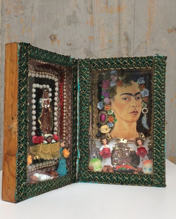 Boîte décorative ex-voto art mexicain Frida Kahlo - modèle 2
