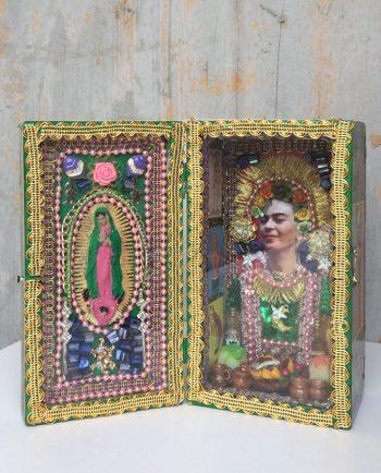 Boîte décorative ex-voto art mexicain Frida Kahlo