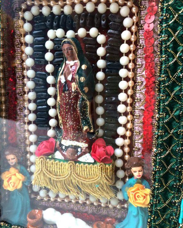 Boîte décorative ex-voto art mexicain Frida Kahlo - détail 2