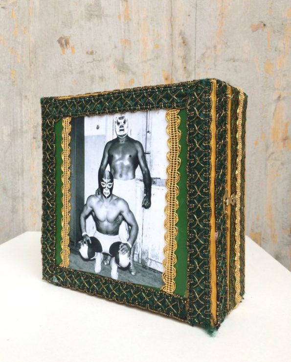Boîte décorative ex-voto art mexicain Luchador - modèle 3