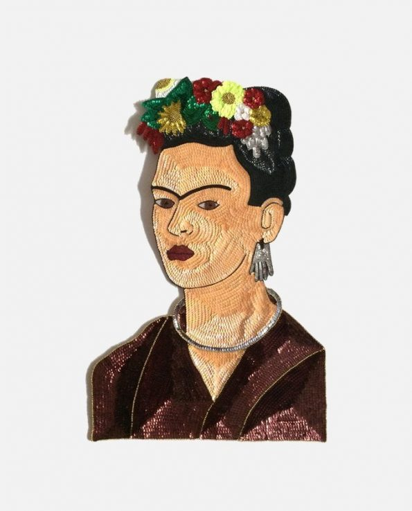 Décoration murale Frida Kahlo en paillettes - 70cm