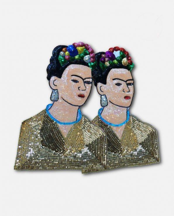 Icône murale décorative en paillettes Frida Kahlo 45cm