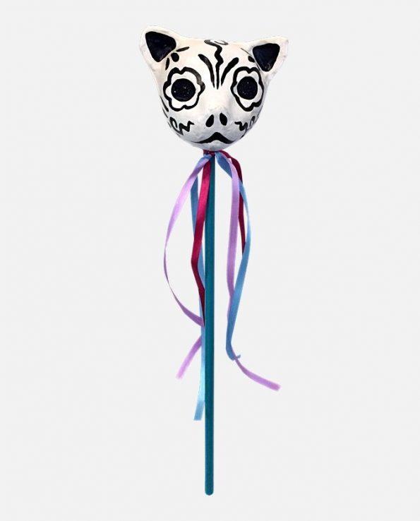 Maracas mexicain en papier recyclé chat
