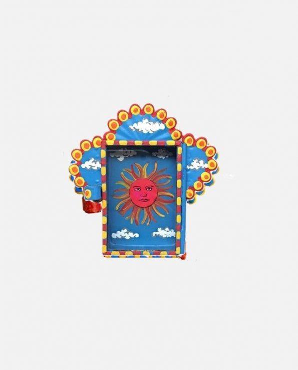 Vitrine artisanat d'art mexicain El Sol loteria mexicaine